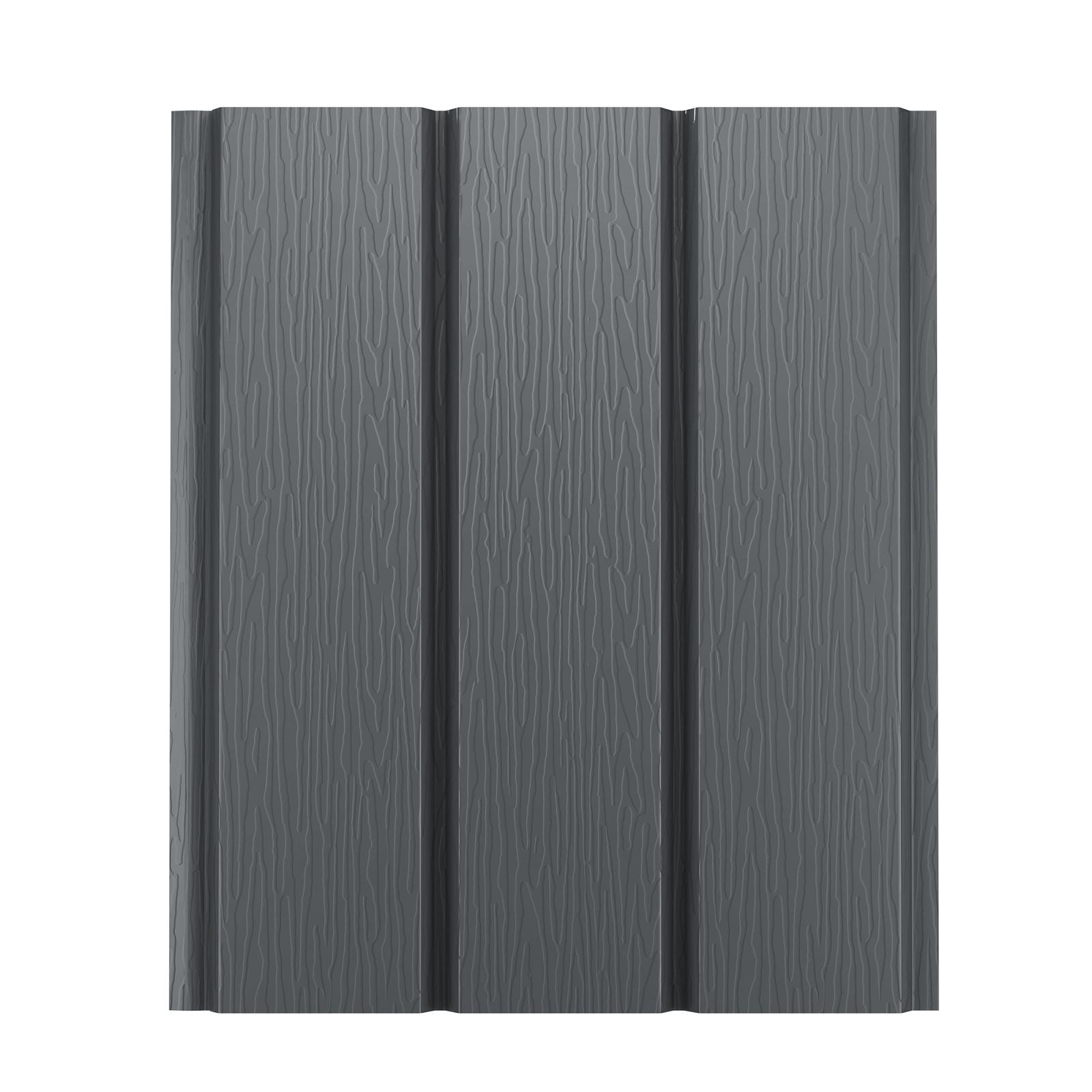 Софит металлический AquaSystem без перфорации Pural 275 г/м2, 2,4 м темно-серый RR 23