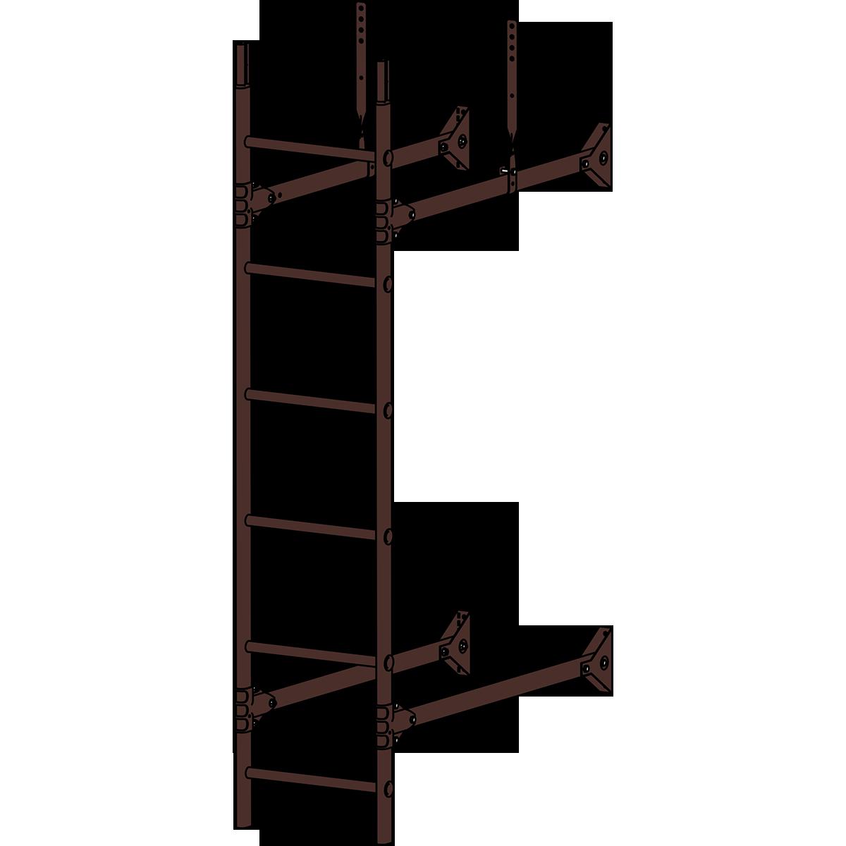 Лестница стеновая ROOFSYSTEMS PRESTIGE ZN 3м RAL 8017 Коричневый шоколад