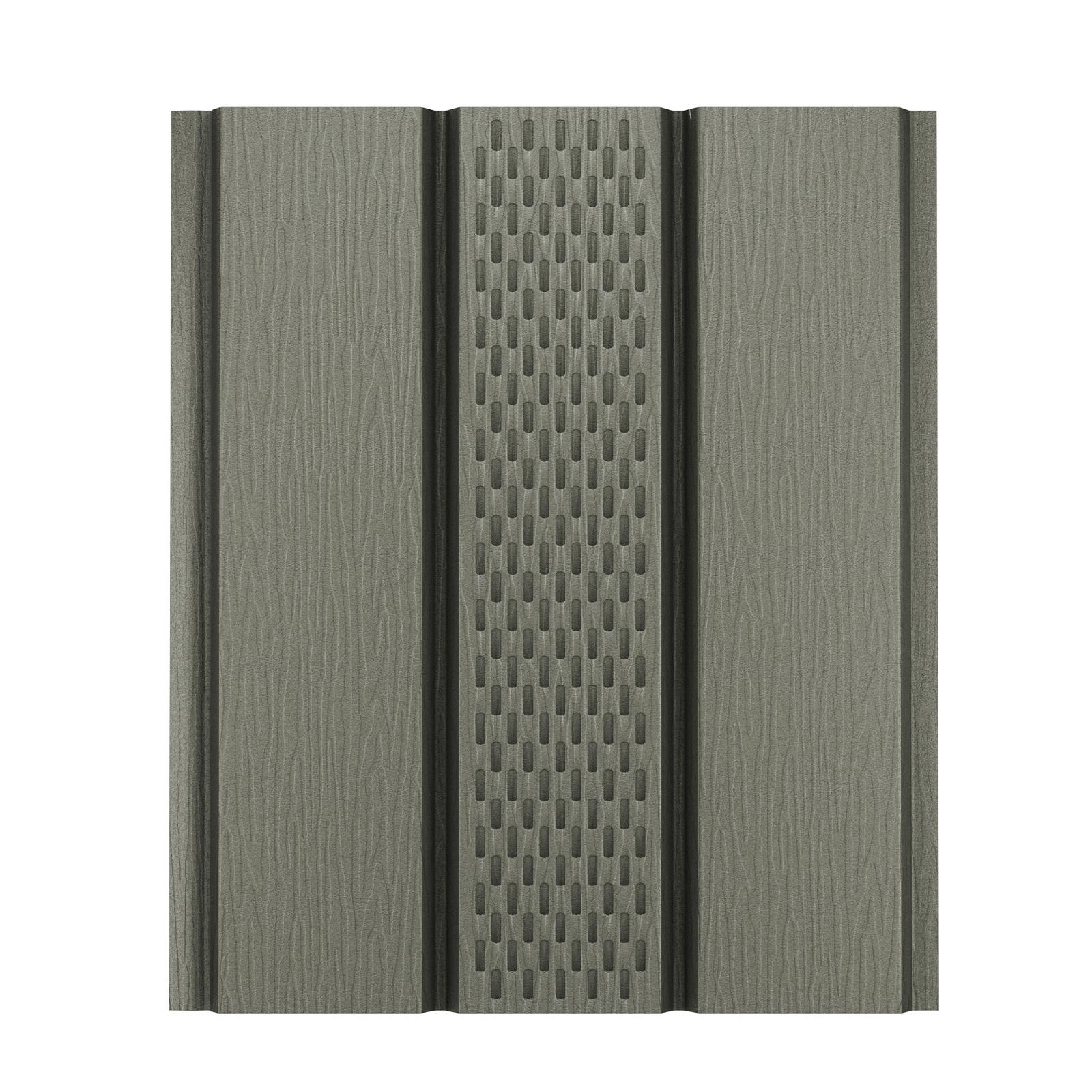 Софит алюминиевый с центральной перфорацией Aquasystem Polyester Matt, 2,4 м RAL 7003