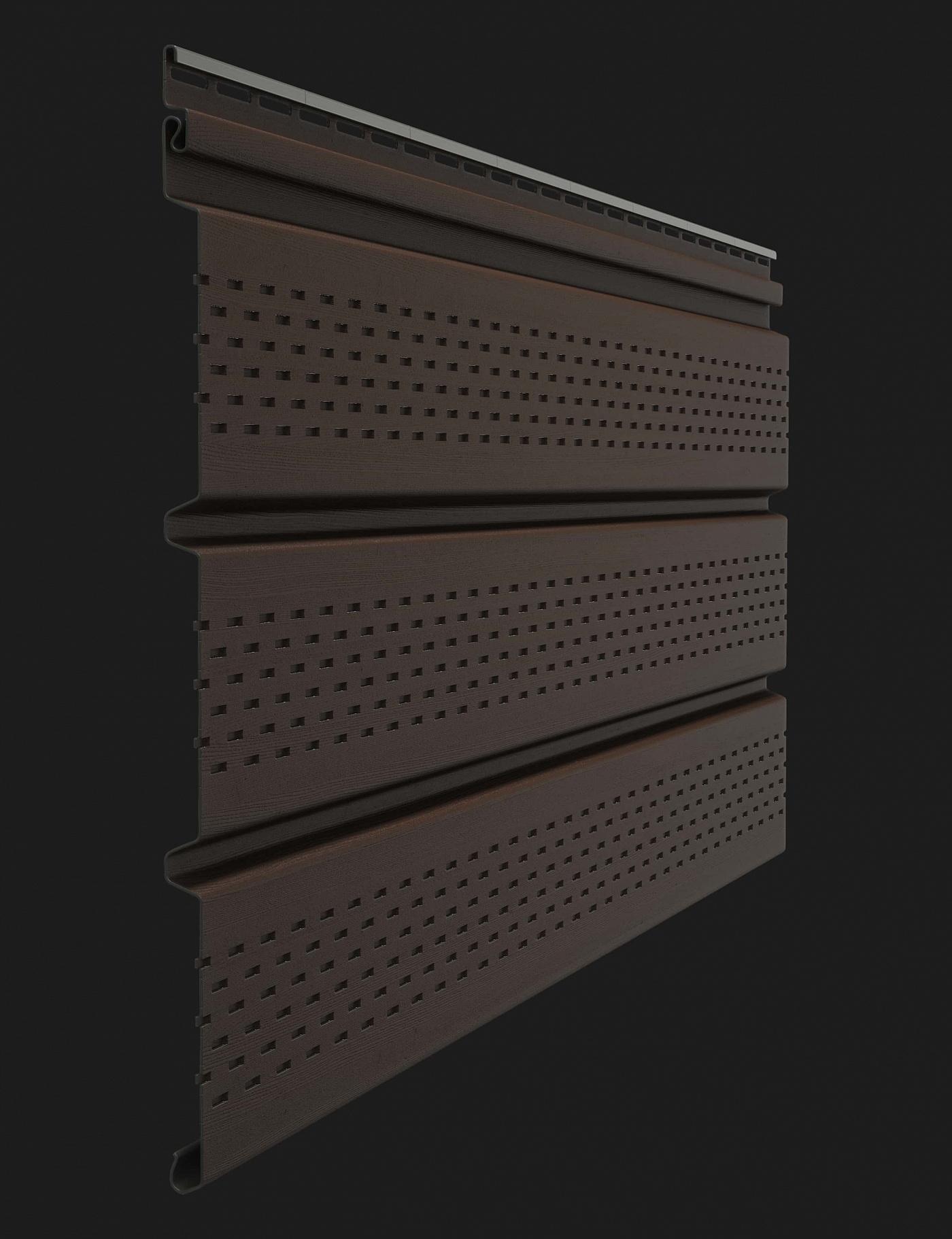 Софит пластиковый Docke Premium T4 с полной перфорацией 3000 мм Шоколад