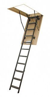 Лестница складная металлическая LMS