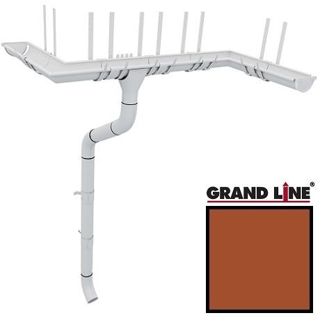 Металлический водосток Grand Line 125/90 RAL 8004 (терракота)