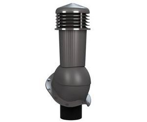 К-94 Вентиляционный выход НЕИЗОЛИРОВАННЫЙ (неутепленный) D 125/110 мм H 500 мм с переходником 125/110 мм (съемный колпак) RAL 7024