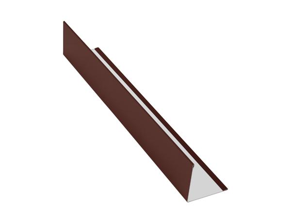 Планка угловая (внешняя) алюминий AquaSystem Polyester коричневый RAL 8017