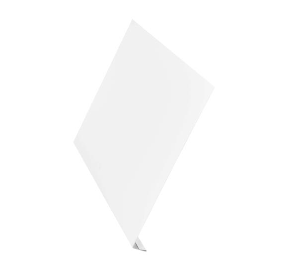 Ветровая планка (L-профиль) алюминий AquaSystem Polyester 200 мм белый RR 20