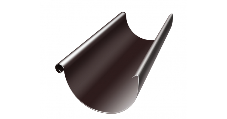 Желоб водосточный полукруглый Grand Line 150 мм 3 м RAL 8017 шоколад