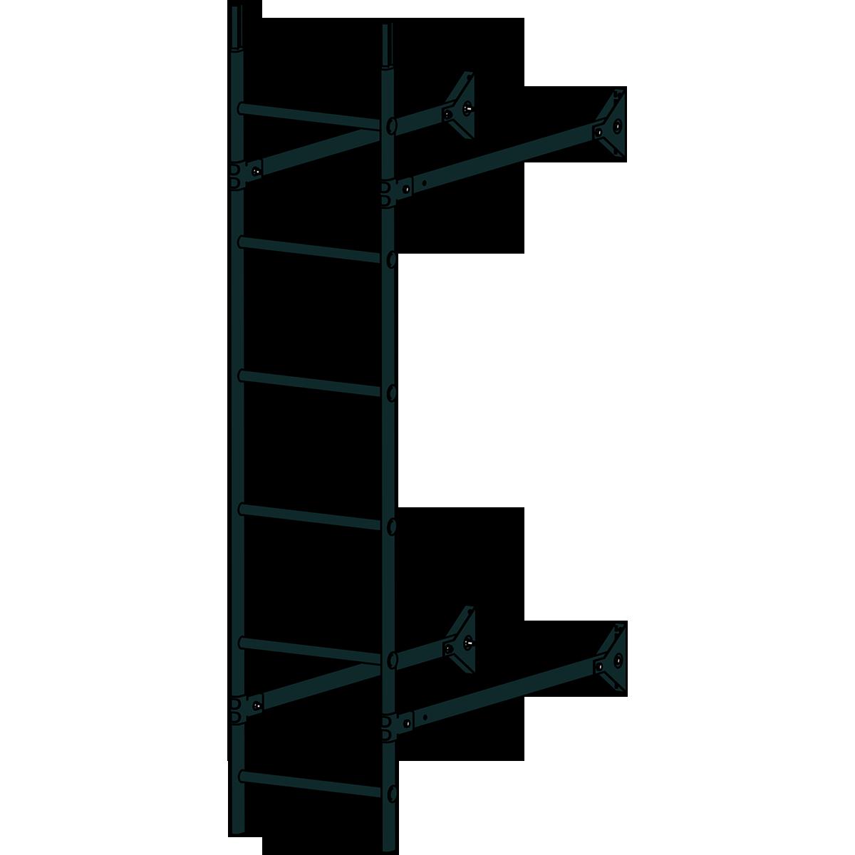 Лестница стеновая ROOFSYSTEMS ELITE 400 1,8 м RAL 9005 Черный темный