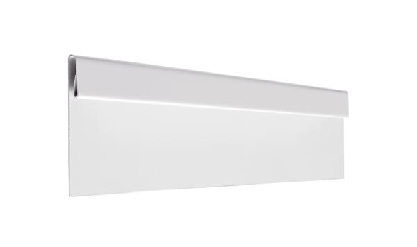 Финишная планка алюминий AquaSystem Polyester белый RR 20