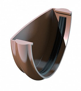 Заглушка желоба универсальная Faracs 125/82 RAL 8017