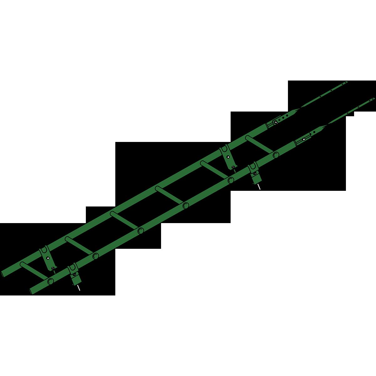 Лестница кровельная ROOFSYSTEMS PRESTIGE ZN 45х25 (овал) 400 унивеpсальная 1,2 м RAL 6002 Зеленый лист
