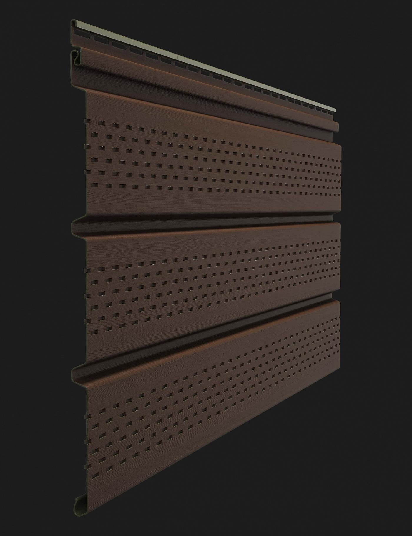 Софит виниловый Docke Premium T4 с полной перфорацией 3000 мм Каштан
