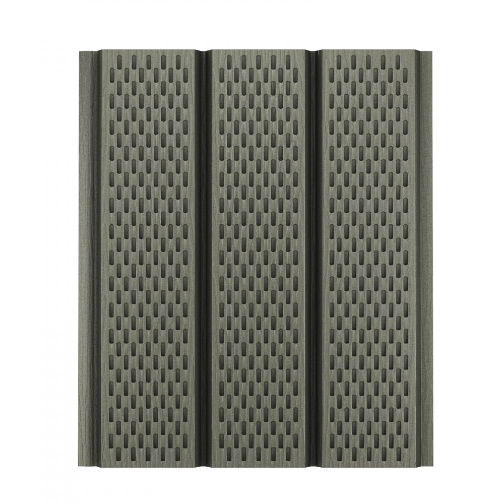 Софит алюминиевый с полной перфорацией Aquasystem Polyester Matt, 2,4 м RAL 7003