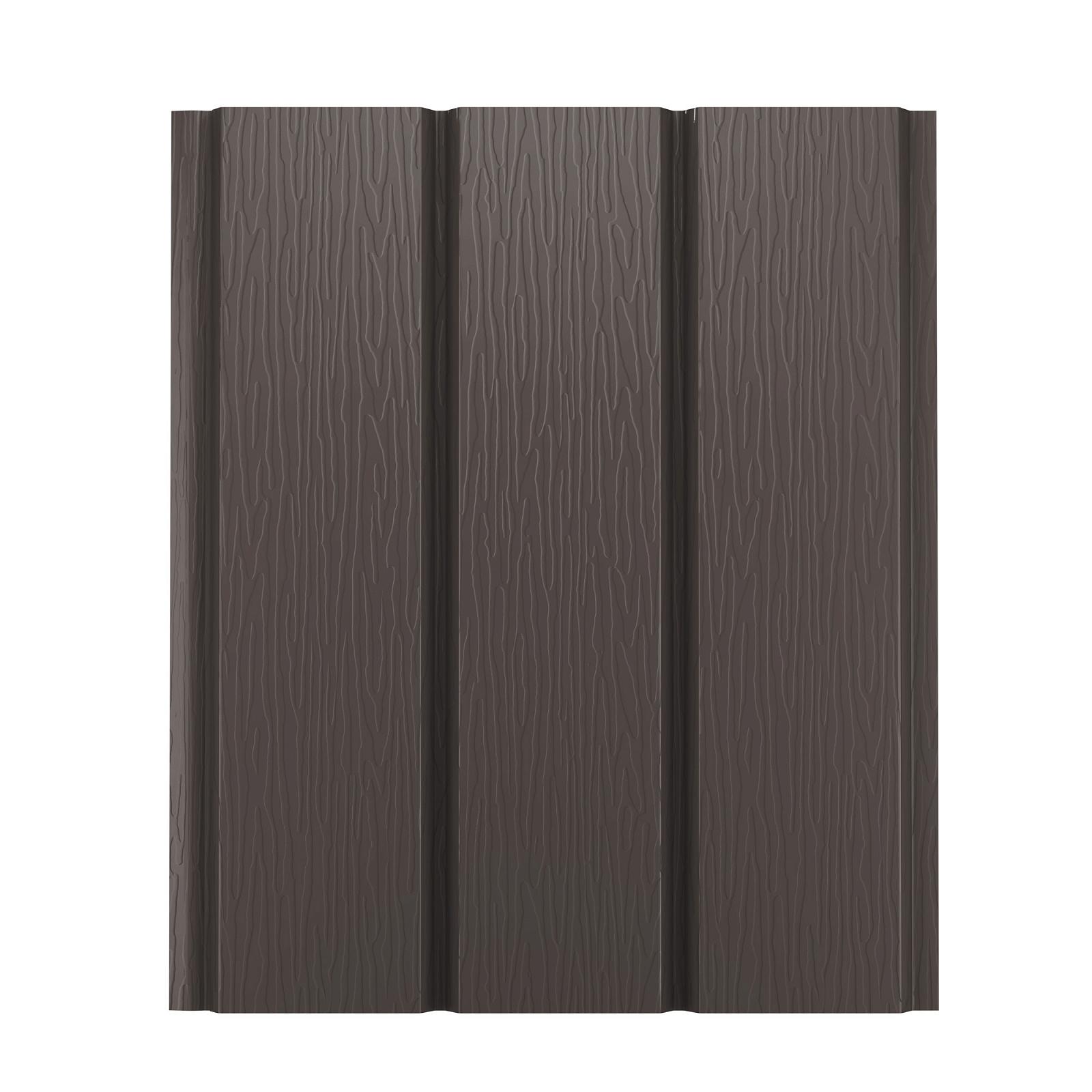 Софит металлический AquaSystem без перфорации Pural 275 г/м2, 2,4 м темно-коричневый RR 32