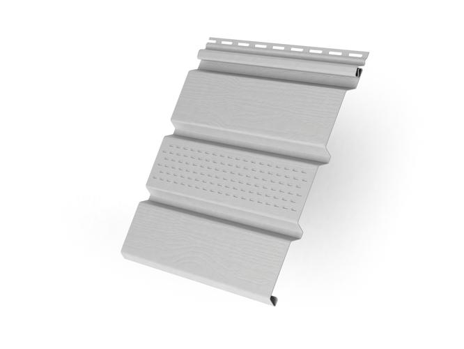 Пластиковый софит Grand Line T4 Классика с центральной перфорацией 3000 мм Белый