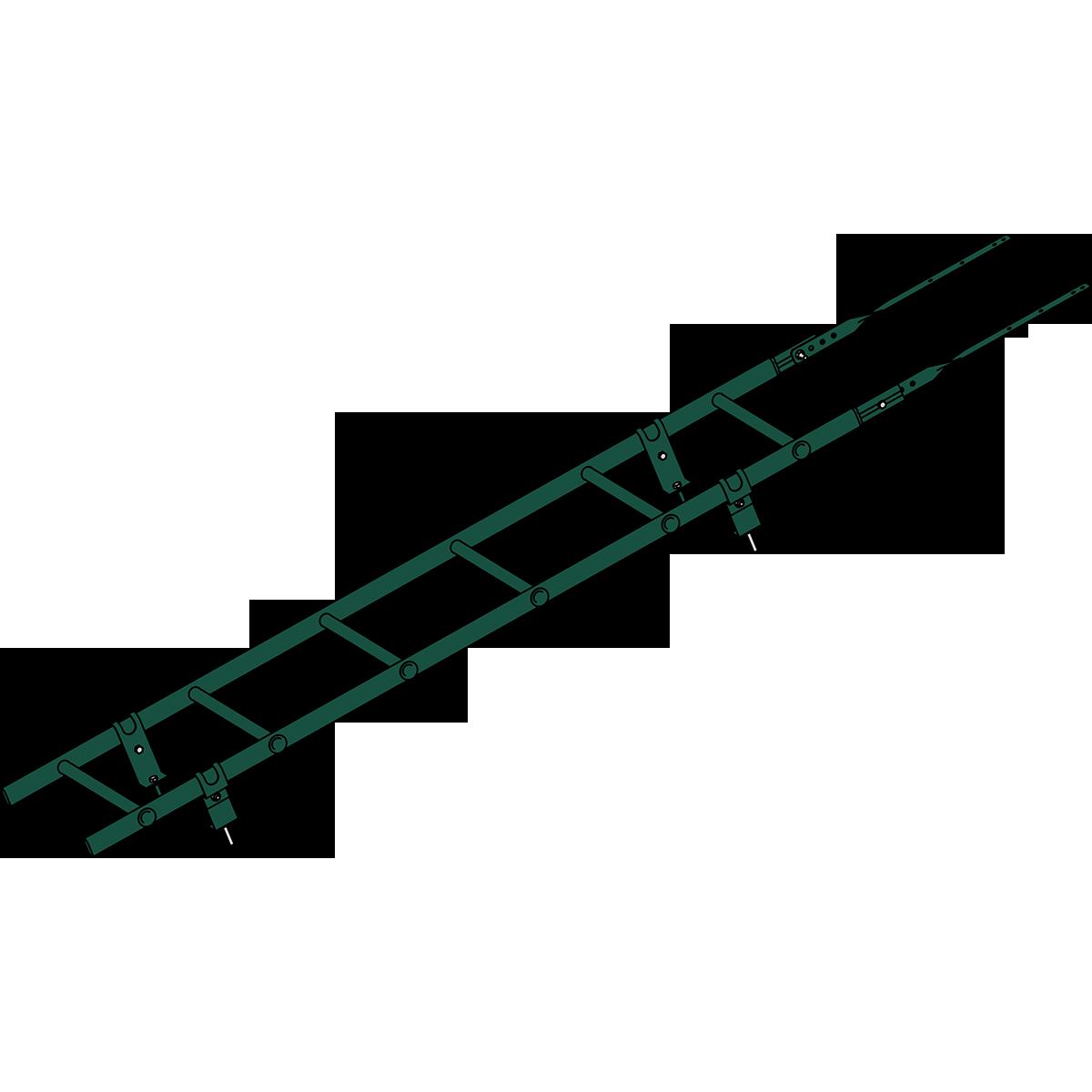 Лестница кровельная ROOFSYSTEMS PRESTIGE ZN 45х25 (овал) 400 унивеpсальная 1,2 м RAL 6005 Зеленый мох