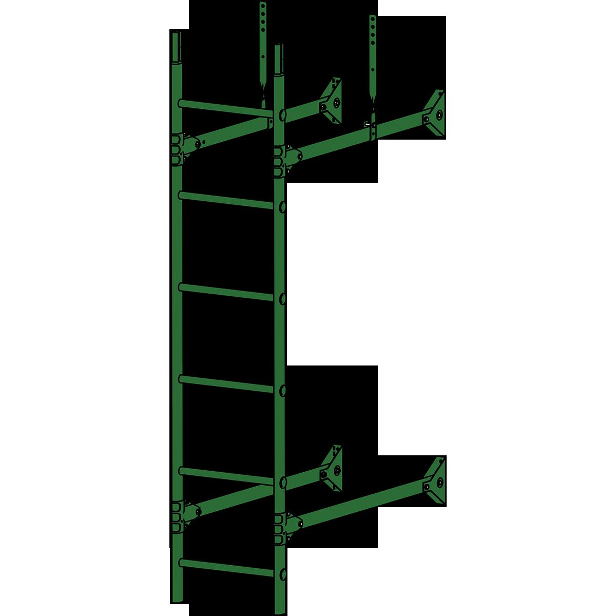 Лестница стеновая ROOFSYSTEMS PRESTIGE ZN 1,2 м RAL 6002 Зеленый лист