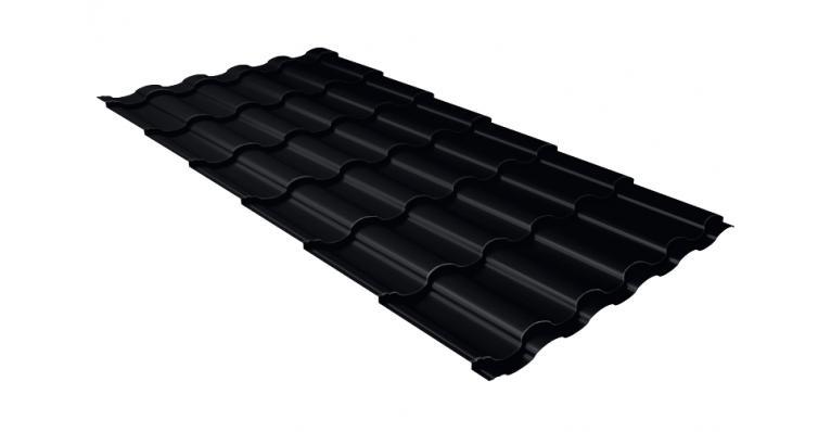 Металлочерепица кредо Grand Line 0,5 Velur20 RAL 9005 черный