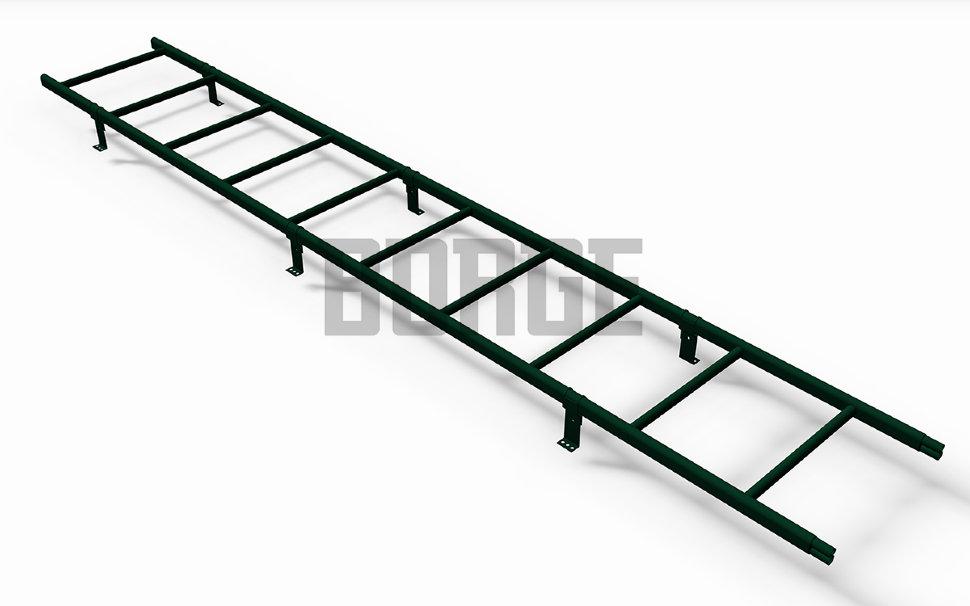Лестница кровельная BORGE L - 3 м для профнастила RAL 6005 Зеленый мох