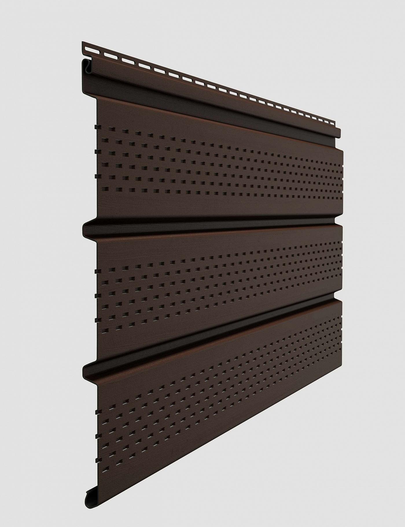 Софит виниловый Docke Standard T4 с полной перфорацией 3000 мм Шоколад