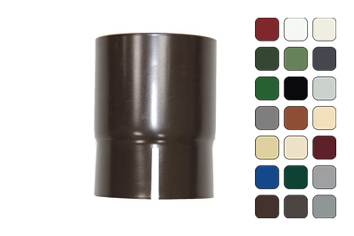 Соединитель трубы 150/100 RAL 3011 (Алюминий)
