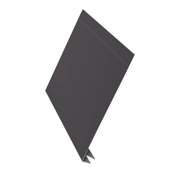 J-фаска алюминий AquaSystem Polyester Matt коричневый 250 мм RAL 7003