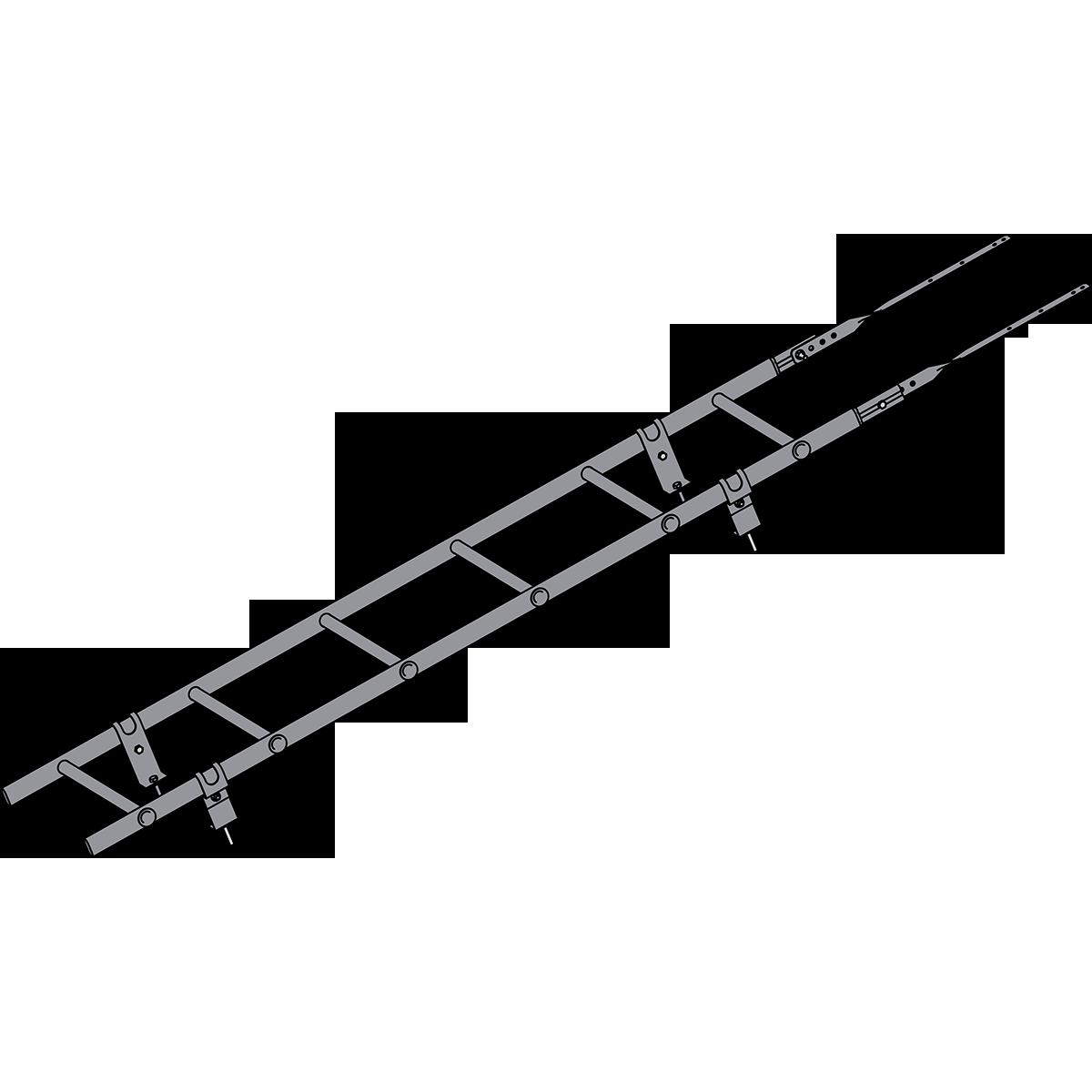 Лестница кровельная ROOFSYSTEMS PRESTIGE ZN 45х25 (овал) 400 унивеpсальная 1,2 м RAL 7004 Серый