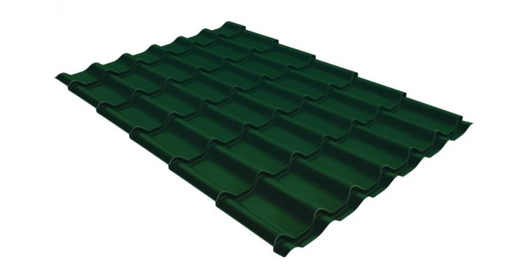Металлочерепица Grand Line Classic 0,5 Velur20 RAL 6005 зеленый мох