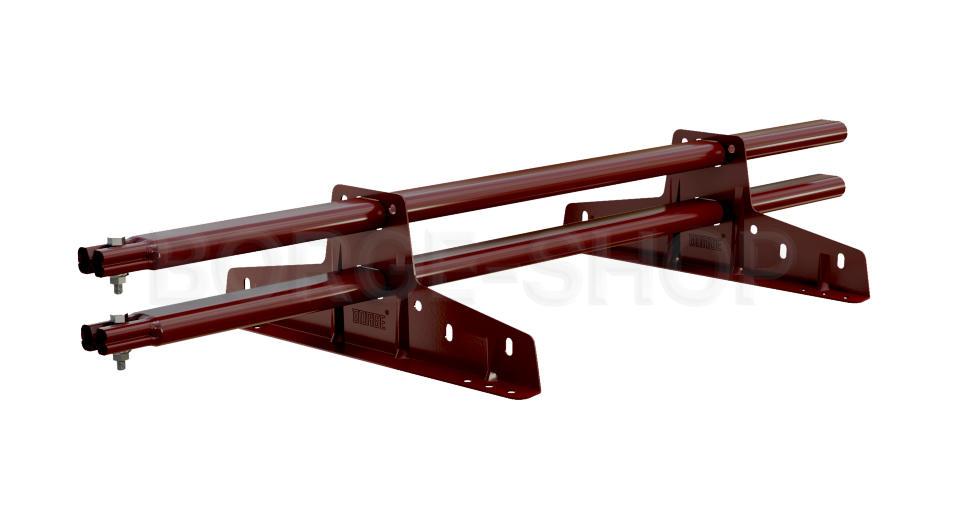 Снегозадержатель трубчатый плоскоовальный BORGE 25х45 мм, L-1 м, 2 опоры для металлочерепицы RAL 3005 Красное вино
