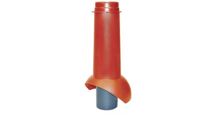 Выход канализации Krovent Pipe-VT 110 красный