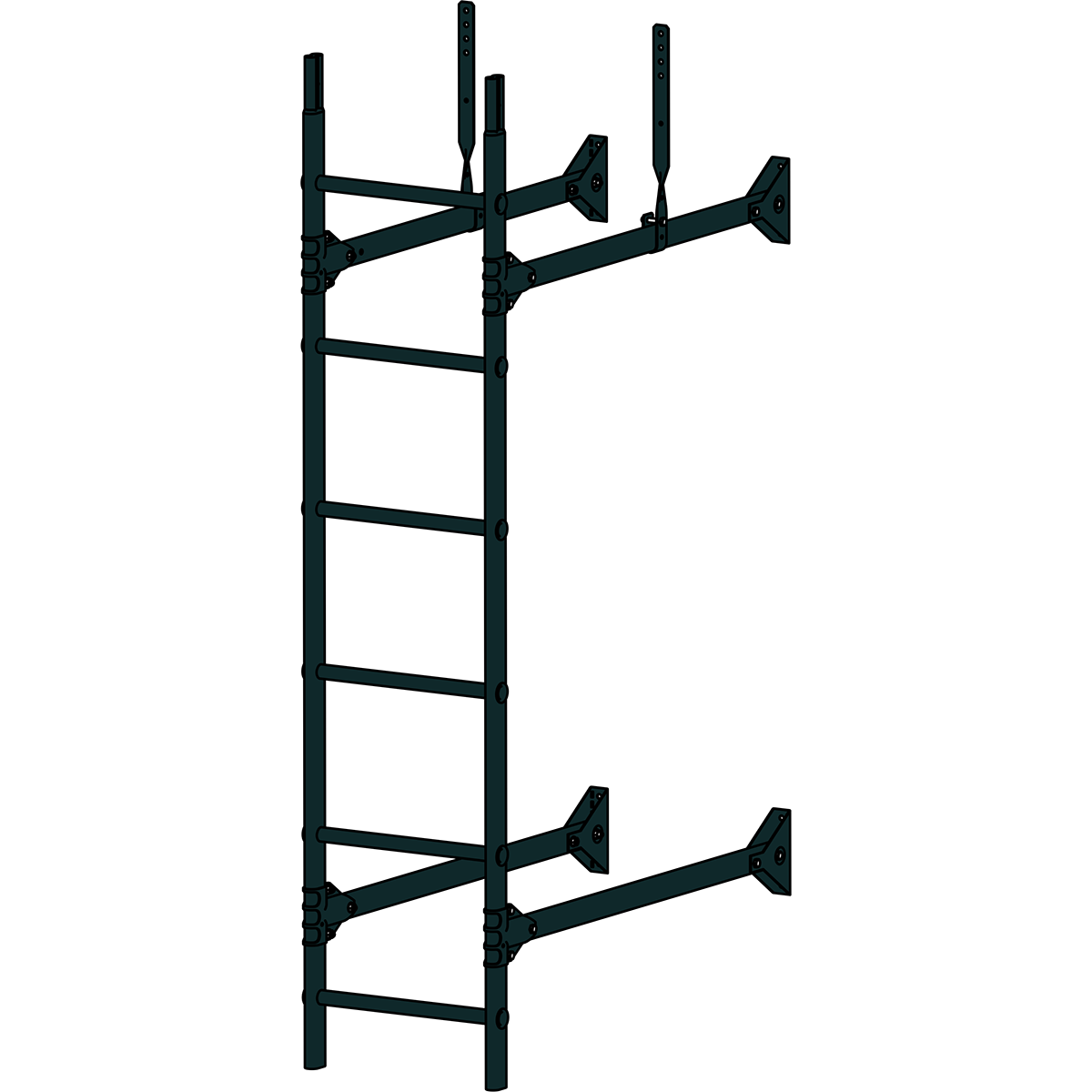 Лестница стеновая ROOFSYSTEMS PRESTIGE ZN 1,2 м RAL 9005 Черный темный