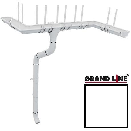 Металлический водосток Grand Line 125/90 RAL 9003 (сигнальный белый)