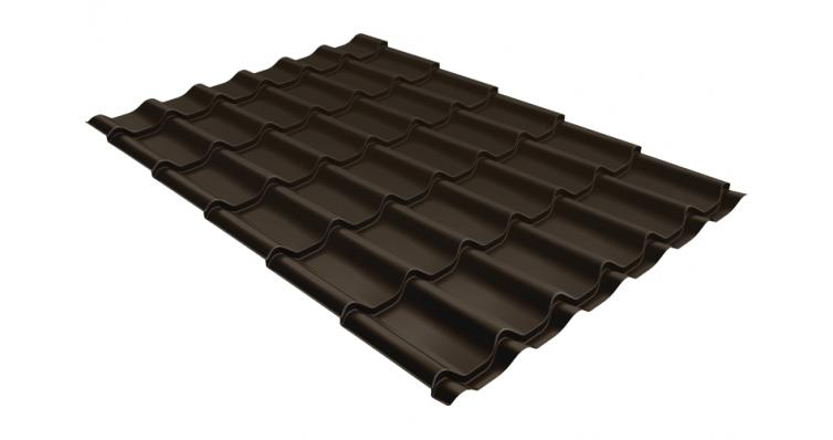 Металлочерепица Grand Line Classic 0,5 Satin RR 32 темно-коричневый