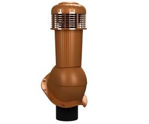К-96 Вентиляционный выход НЕИЗОЛИРОВАННЫЙ (неутепленный) с электрическим вентилятором 305 куб.м./час D125/110 мм Н 500 мм с переходником 125/110 мм RAL 8003