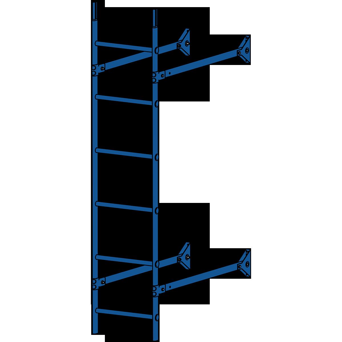 Лестница стеновая ROOFSYSTEMS ELITE 400 1,8 м RAL 5005 Синий насыщенный