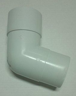 Колено трубы 108 гр 125/82 RAL 9003