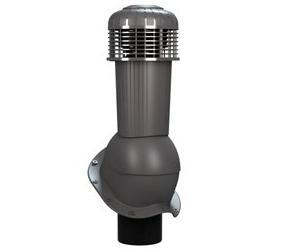 К-96 Вентиляционный выход НЕИЗОЛИРОВАННЫЙ (неутепленный) с электрическим вентилятором 305 куб.м./час D125/110 мм Н 500 мм с переходником 125/110 мм RAL 7024