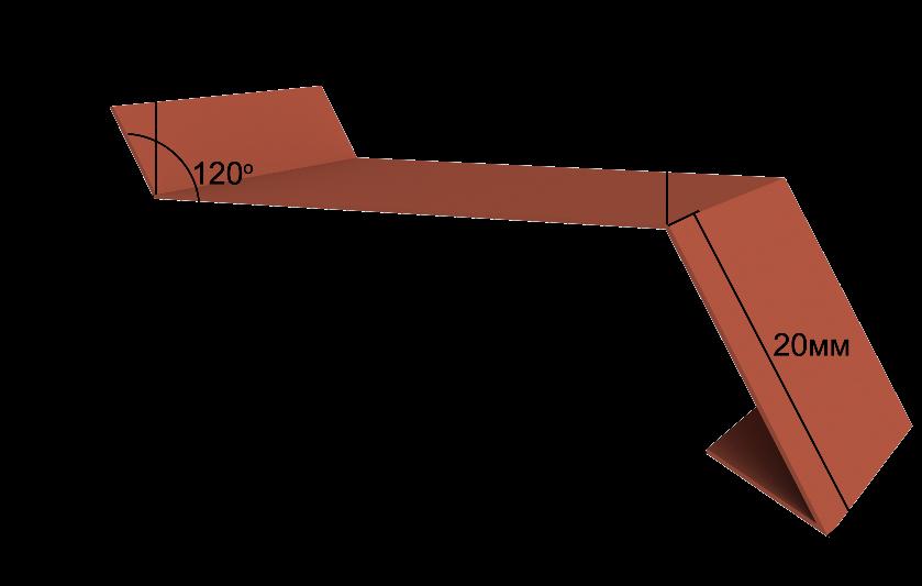 Отлив для фундамента и цоколя Вид 1 2000х250 мм