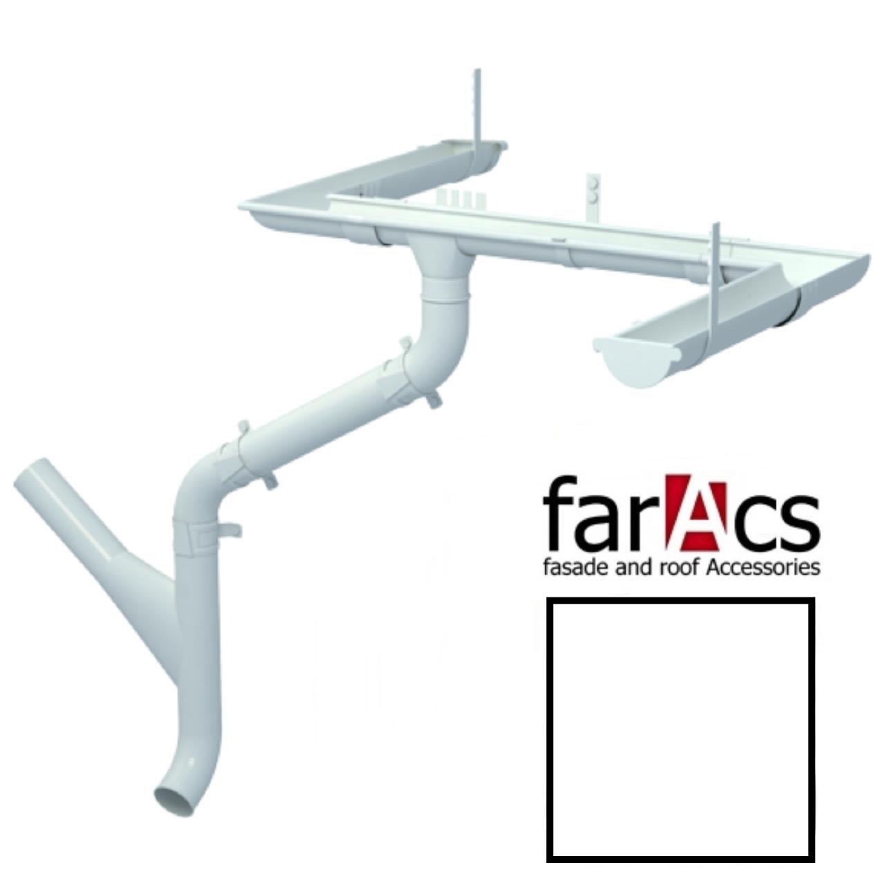 Металлический водосток Faracs 125/90 RAL 9003 (сигнальный белый)