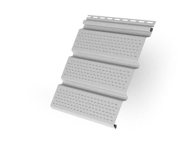 Пластиковый софит Grand Line T4 Классика полностью перфорированный 3000 мм Белый