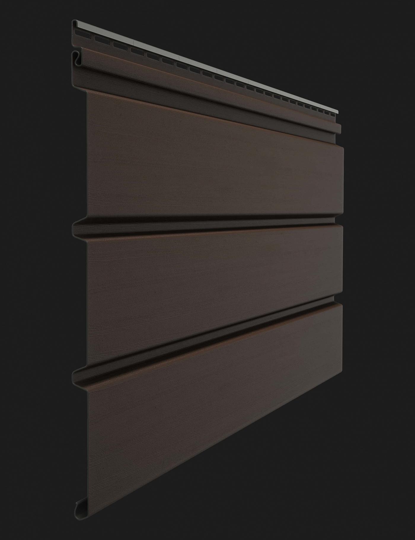 Софит виниловый Docke Premium T4 сплошной без перфорации 3000 мм Шоколад