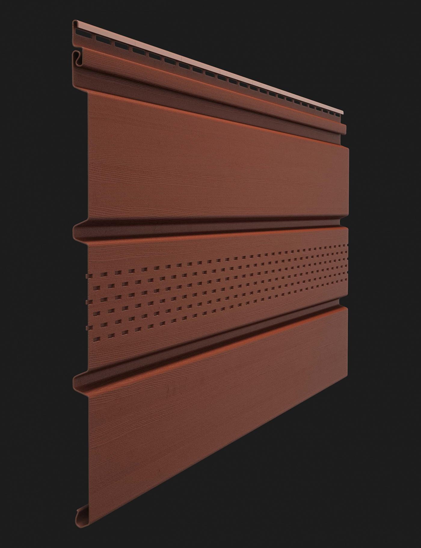 Софит виниловый Docke Premium T4 с центральной перфорацией 3000 мм Гранат