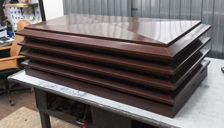 Дымник-флюгарка плоский 510х510 мм Полиэстер