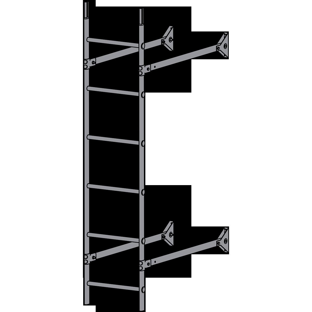 Лестница стеновая ROOFSYSTEMS ELITE 400 1,8 м RAL 7004 Серый