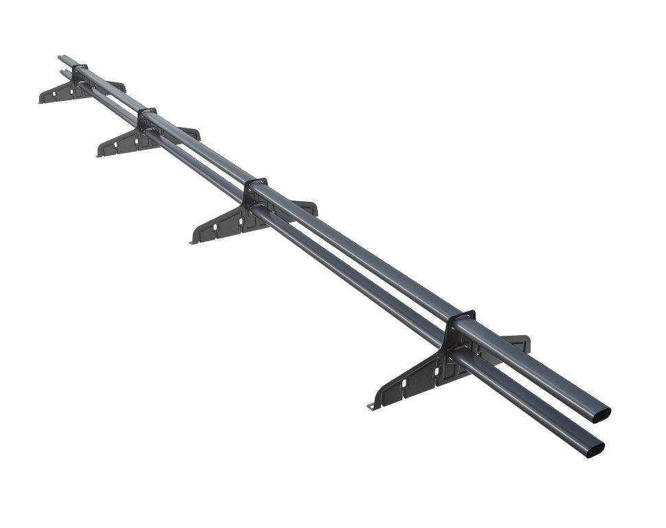 Снегозадержатель трубчатый плоскоовальный Русский рубеж 20х40 мм, L-3 м, 4 опоры для металлочерепицы RAL 7024 Серый графит