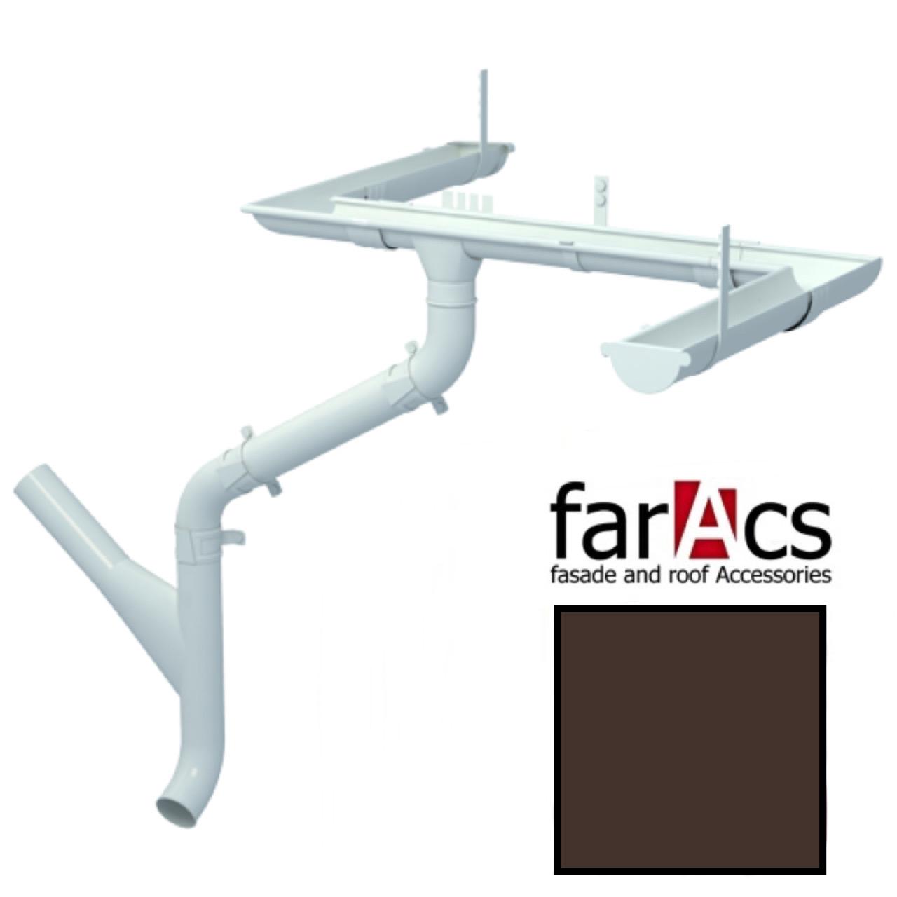 Металлический водосток Faracs 125/90 RAL 8017 (шоколад)