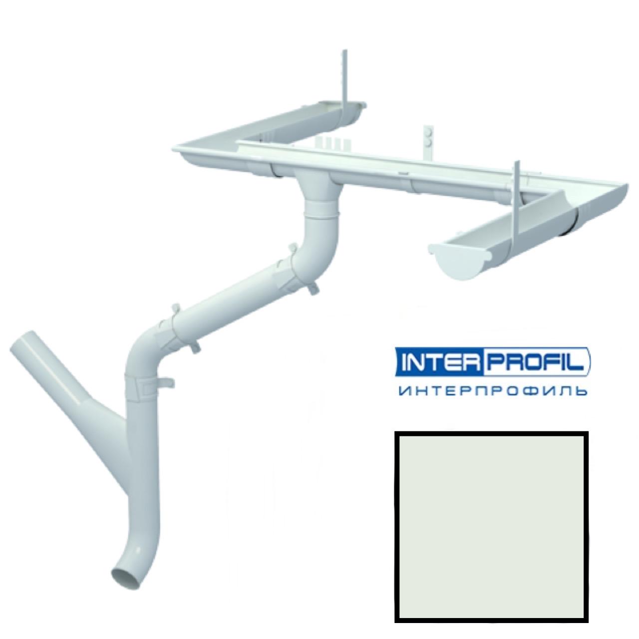 Металлический водосток Interprofil 125/90 RAL 9002 (серый) (Гранит)