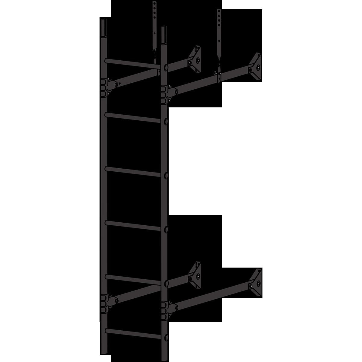 Лестница стеновая ROOFSYSTEMS PRESTIGE ZN 3м RAL 8019 Серо-коричневый