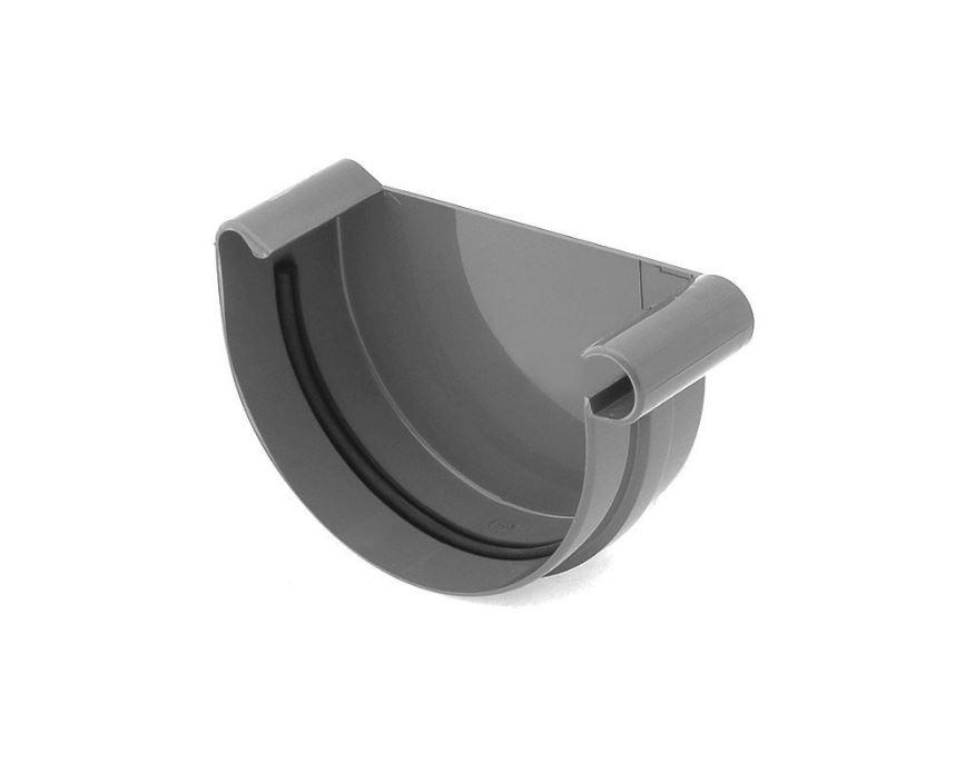 Заглушка желоба правая Bryza 150 мм RAL 7021