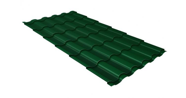 Металлочерепица кредо Grand Line 0,5 Velur20 RAL 6005 зеленый мох