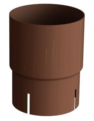 Соединитель трубы 150/100 RAL 8004 (Алюминий)